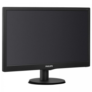 "Monitor 18.5"" PHILIPS 193V5LSB2, FWXGA 1366*768, TN, 16:9, WLED, 5 ms, 200 cd/m2, 90/65, 10M:1/ 700:1, D-SUB, VESA, , Black1"