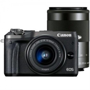 Camera foto Canon EOS M6 double kit EF-M 15-45mm + 55-200mm, 24.2Mpx0