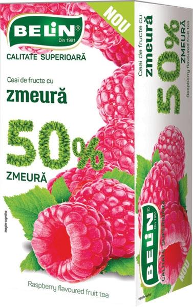 Ceai de fructe cu zmeura 50% 20pl,40gr, + 1 cutie ceai Verde cu ghimbir 30% GRATUIT 0