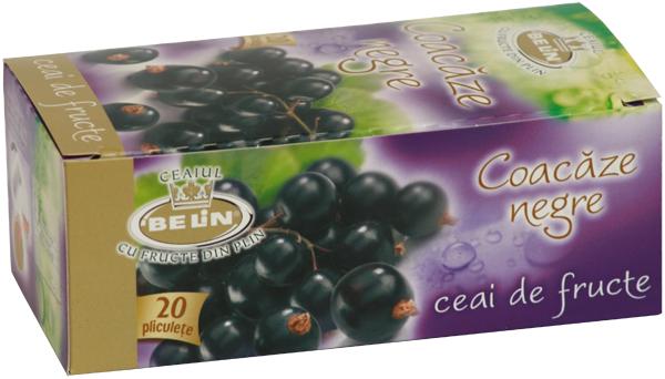 Ceai coacaze neagre 20 pl, 40 gr, + 1 cutie ceai Verde cu ghimbir 30% GRATUIT 0