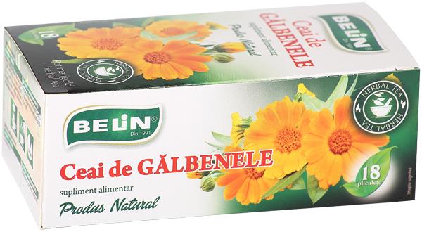 Ceai de gălbenele 18pl, 18 gr, + 1 cutie ceai Verde cu ghimbir 30% GRATUIT 0