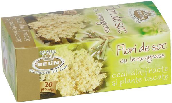 Ceai flori de soc cu lemongrass 20 pl, 30 gr, + 1 cutie Ceai coacaze negre GRATUIT 0