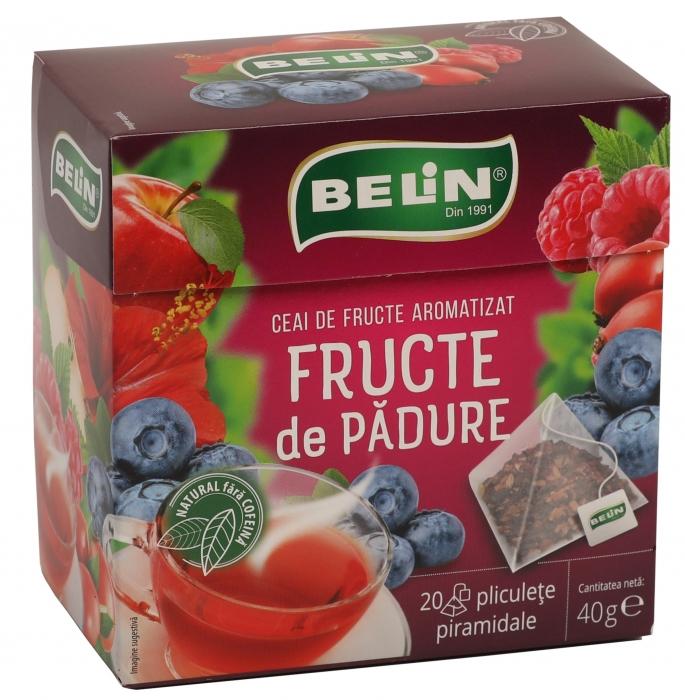 Ceai Fructe de padure 20 pl piramidale ,40gr, + 1 cutie ceai Verde cu aloe GRATUIT 0