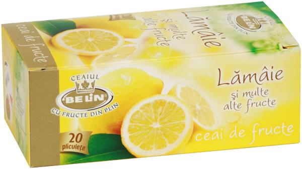 Ceai lamaie si multe alte fructe 20 pl, 40 gr, + 1 cutie ceai Verde cu ghimbir 30% GRATUIT 0