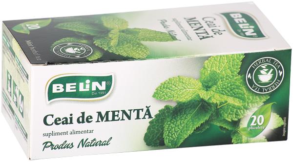 Ceai menta 20 pl, 36 gr, + 1 cutie ceai Verde cu ghimbir 30% GRATUIT 0