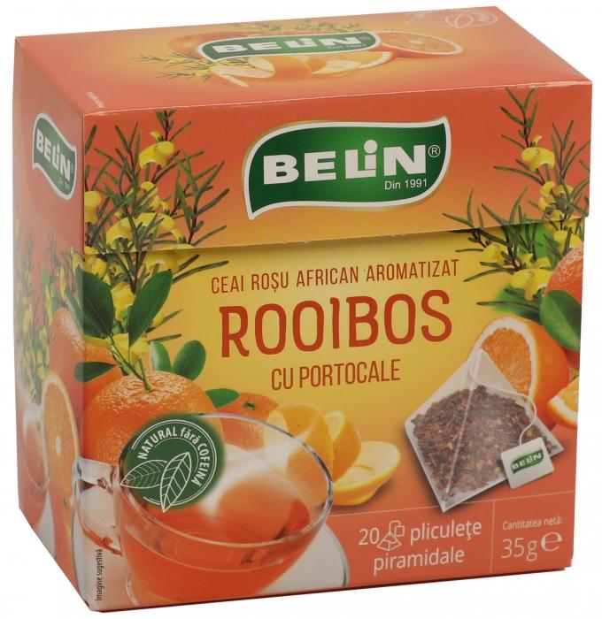 Ceai Rooibos cu portocale 20pl piramidale,35gr, + 1 cutie ceai Verde cu aloe GRATUIT 0
