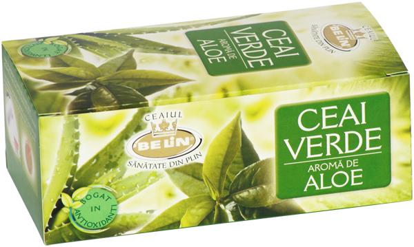 Ceai verde cu aloe 20pl.40gr 0