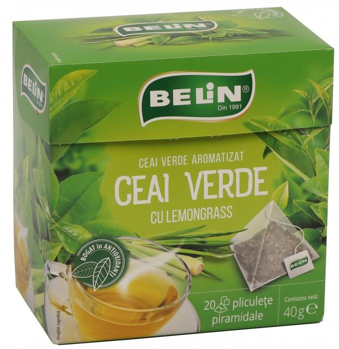Ceai Verde cu lemongrass 20pl piramidale ,40gr, + 1 cutie ceai Verde cu aloe GRATUIT 0