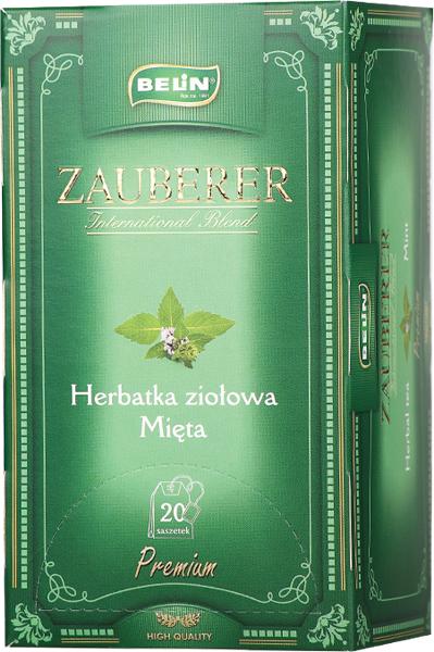 Ceai Zauberer de menta 20pl, 34gr, 9+1 gratuit 0