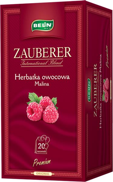 Ceai Zauberer de zmeura 20 pl, 45 gr, + 1 cutie Verde cu lamaie Zauberer GRATUIT 0