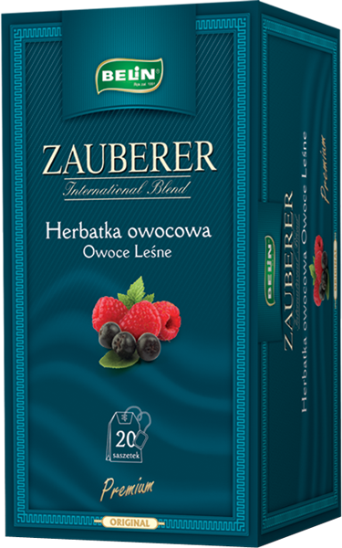Ceai Zauberer fructe de padure 20 pl, 45 gr, + 1 cutie Verde cu lamaie Zauberer GRATUIT 0