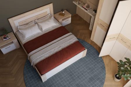 Dormitor Virginia Stejar Boniface cu Alb [1]