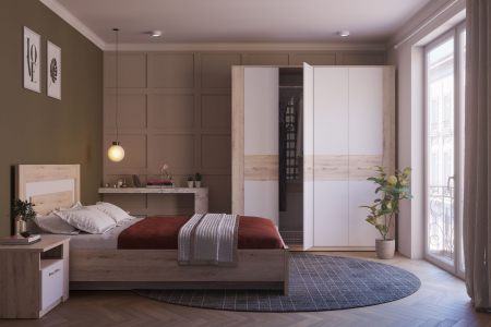 Dormitor Virginia Stejar Boniface cu Alb [0]