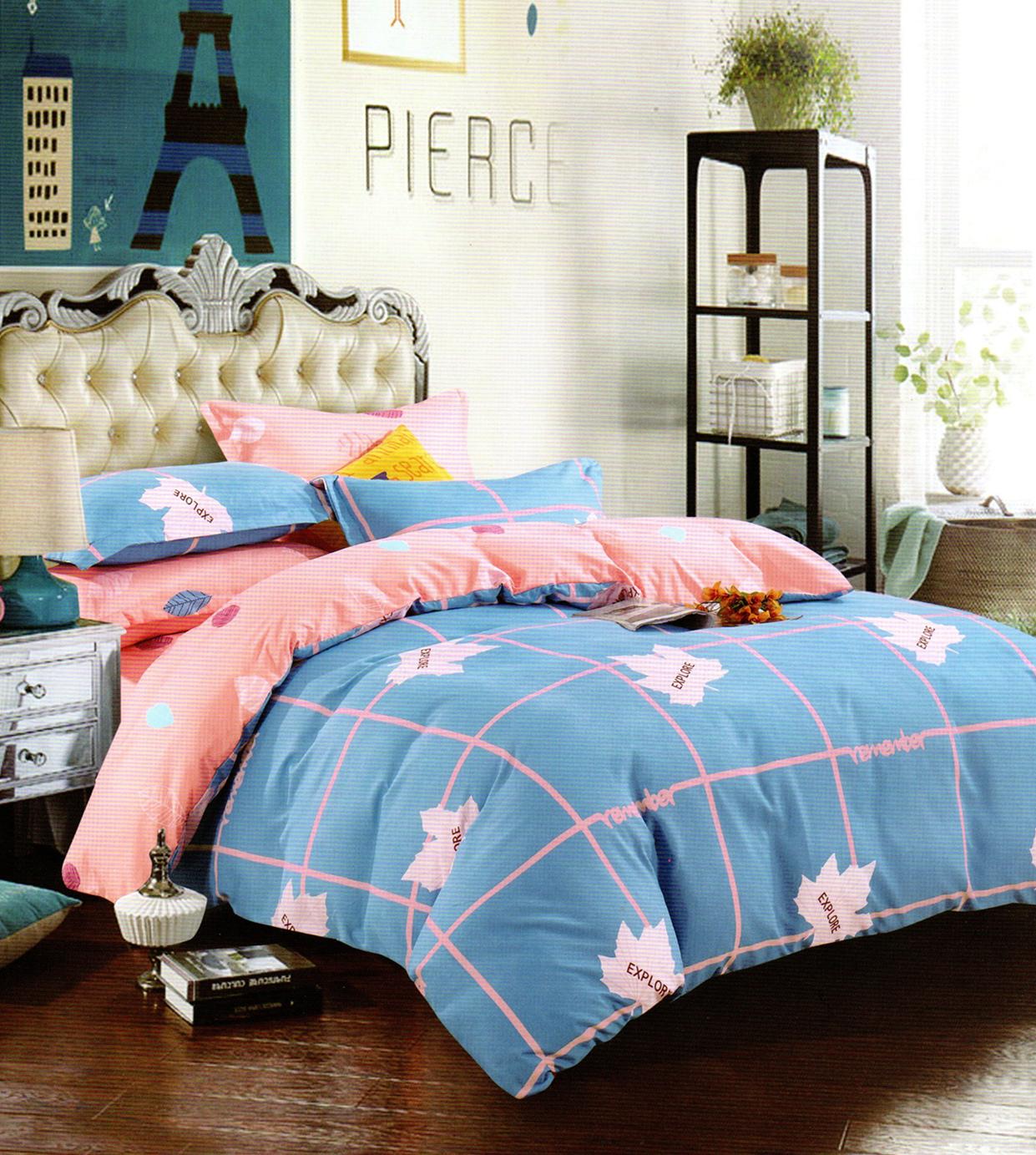 lenjerie de pat cu model modern