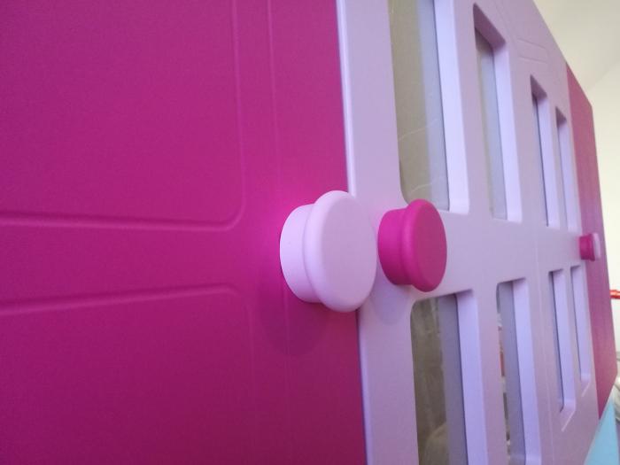Pat din  MDF cu dulap 4 uși și etajeră pentru cameră copii 12