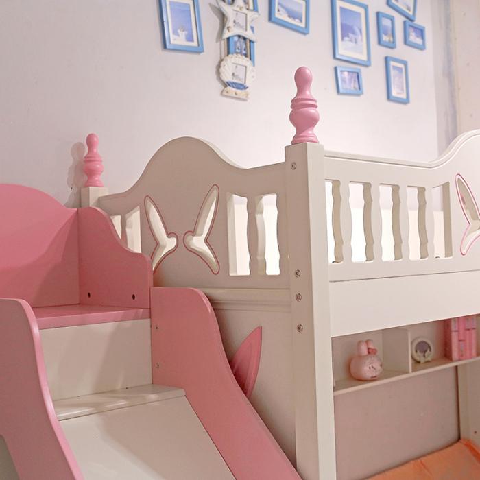 Paturi supraetajate cu tobogan pentru dormitor copii [5]