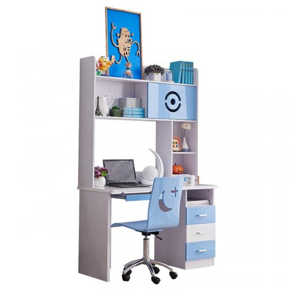 Set mobilier Rocky din MDF pentru camera copii 4 piese: pat 120/190cm cu 2 sertare depozitare, noptieră, dulap 3 usi, birou - cod 8119 [9]