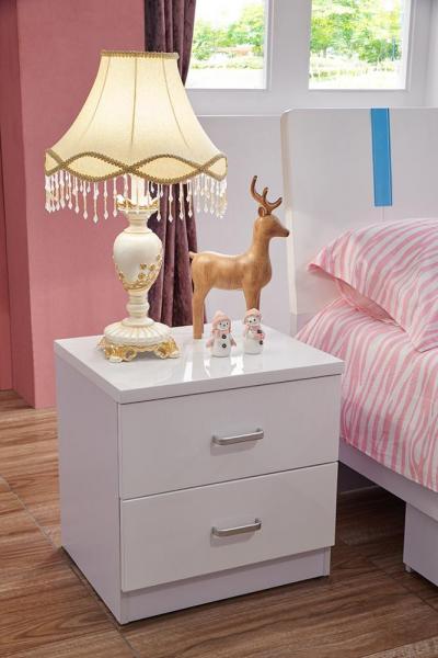 Set mobilier Piano din MDF pentru camera copii 4 piese: pat 120 x 190cm, noptiera, dulap 3 usi, birou -cod 8860 6