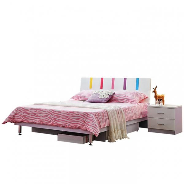 Set mobilier Piano din MDF pentru camera copii 4 piese: pat 120 x 190cm, noptiera, dulap 3 usi, birou -cod 8860 2