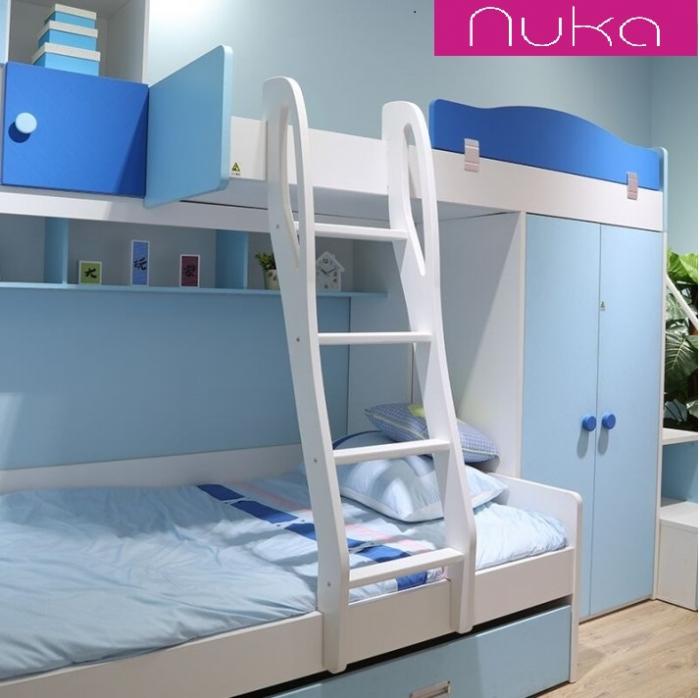 Paturi supraetajate, cu dulap, scara si biblioteca pentru dormitor doi copii 3