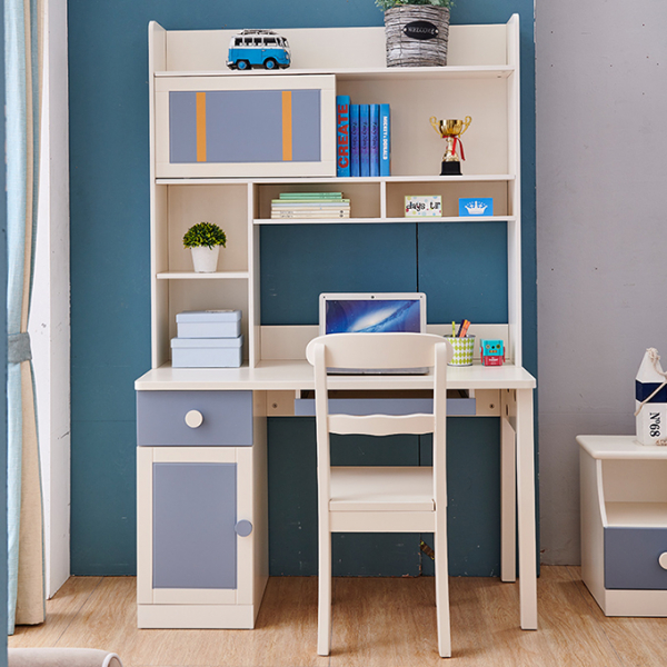 Set mobilier Solis din MDF si lemn masiv stejar pentru camera copii 4 piese: pat 120 x 190cm, noptiera, dulap 3 usi, birou -cod 8915 [12]