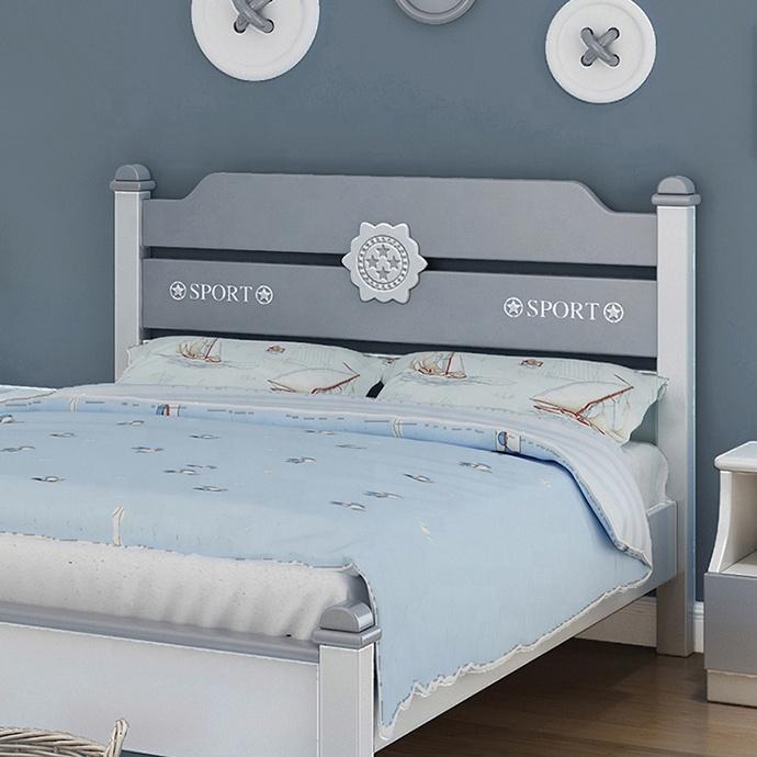 Set mobilier Robin din MDF si lemn masiv pentru camera copii 4 piese: pat 120 x 190cm, noptiera, dulap 3 usi, birou -cod 8918 2