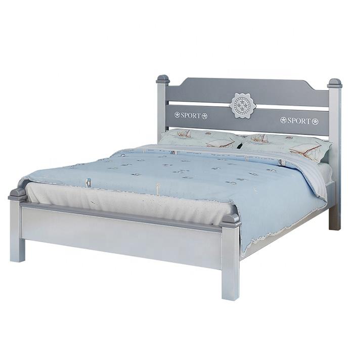 Set mobilier Robin din MDF si lemn masiv pentru camera copii 4 piese: pat 120 x 190cm, noptiera, dulap 3 usi, birou -cod 8918 4
