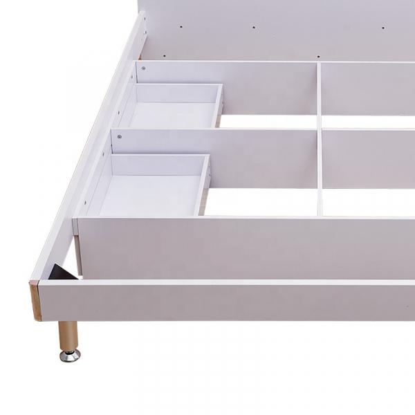 Set mobilier Blue din MDF pentru camera copii 4 piese: pat 120/190cm cu 2 sertare depozitare, noptieră, dulap 3 usi, birou - cod 8862 4