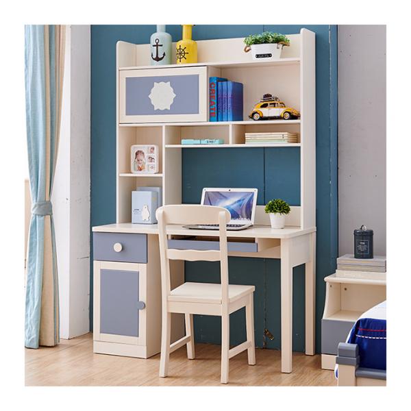 Set mobilier Bingo din MDF si lemn masiv pentru camera copii 4 piese: pat 120 x 190cm, noptiera, dulap 3 usi, birou -cod 8921 7