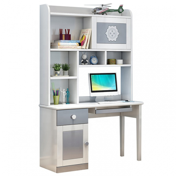 Set mobilier Bingo din MDF si lemn masiv pentru camera copii 4 piese: pat 120 x 190cm, noptiera, dulap 3 usi, birou -cod 8921 8