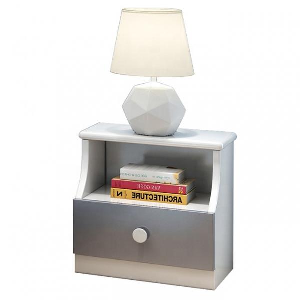 Set mobilier Robin din MDF si lemn masiv pentru camera copii 4 piese: pat 120 x 190cm, noptiera, dulap 3 usi, birou -cod 8918 14