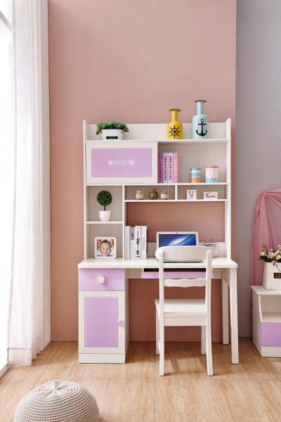 Set mobilier Sofia din MDF si lemn masiv pentru camera copii 4 piese: pat 120 x 190cm, noptiera, dulap 3 usi, birou -cod 8922 [11]