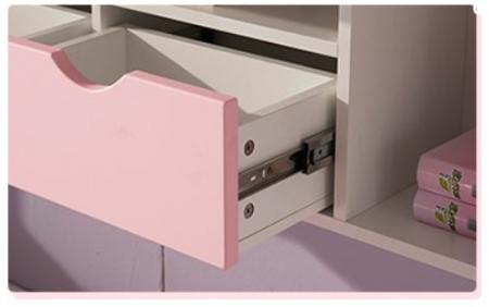 Set mobilier Neptun din MDF  pat, dulap  5 uși si etajeră pentru cameră copii cod 808A4