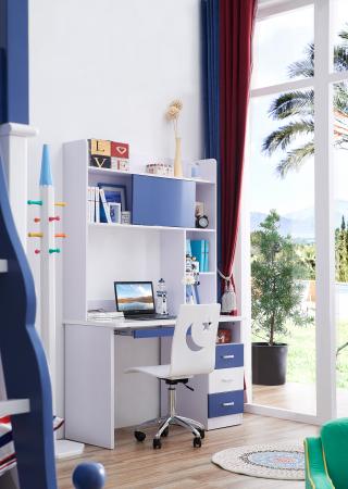Birou cu etajera Marshall din MDF cameră copii cod611B0