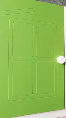 Pat din  MDF cu dulap 4 uși și etajeră pentru cameră copii [5]