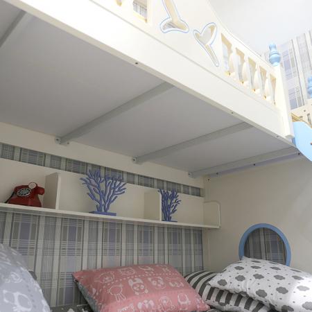 Paturi supraetajate cu tobogan pentru dormitor copii [7]