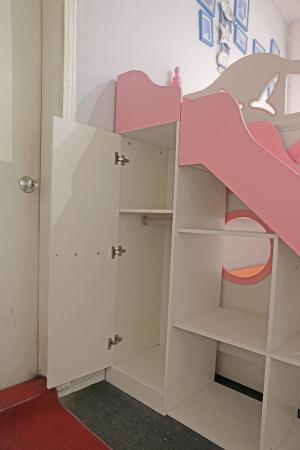 Paturi supraetajate cu tobogan pentru dormitor copii [6]