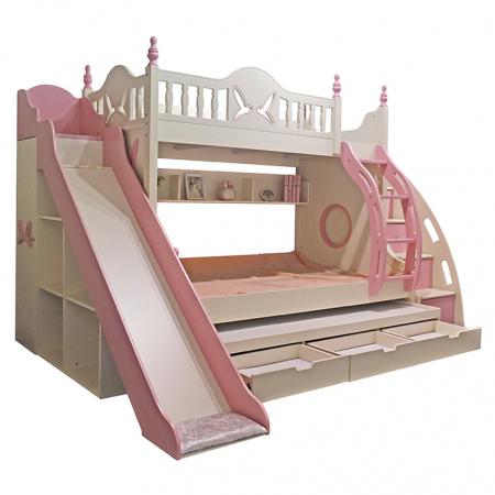 Paturi supraetajate cu tobogan pentru dormitor copii [1]