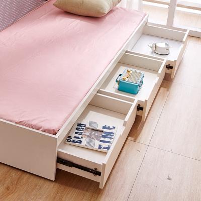 Set mobilier Aurora din MDF si lemn masiv stejar pentru camera copii 4 piese: pat 120 x 190cm, noptiera, dulap 3 usi, birou -cod 89203