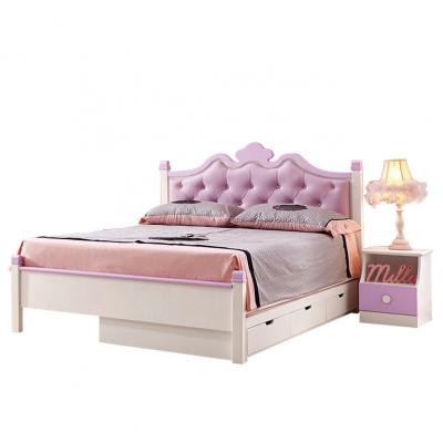 Set mobilier Sofia din MDF si lemn masiv pentru camera copii 4 piese: pat 120 x 190cm, noptiera, dulap 3 usi, birou -cod 8922 [4]