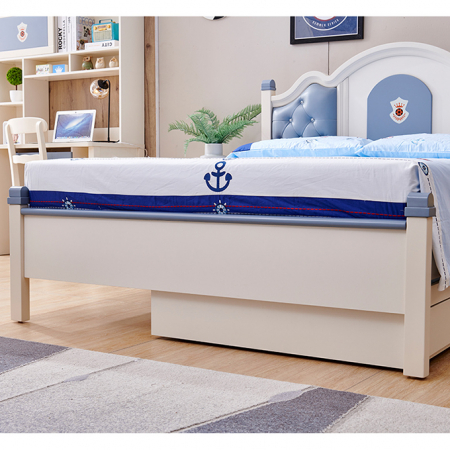 Set mobilier Tom din MDF si lemn masiv pentru camera copii 4 piese: pat 120 x 190cm, noptiera, dulap 3 usi, birou -cod 8919 [6]