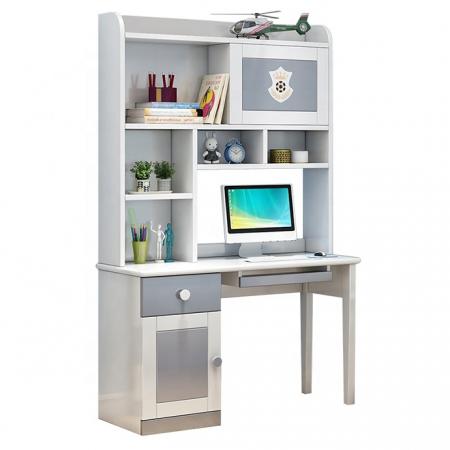 Set mobilier Tom din MDF si lemn masiv pentru camera copii 4 piese: pat 120 x 190cm, noptiera, dulap 3 usi, birou -cod 8919 [12]