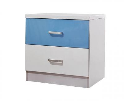 Set mobilier Rocky din MDF pentru camera copii 4 piese: pat 120/190cm cu 2 sertare depozitare, noptieră, dulap 3 usi, birou - cod 8119 [10]