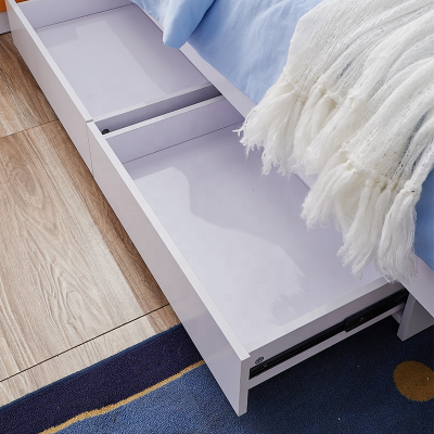 Set mobilier Rocky din MDF pentru camera copii 4 piese: pat 120/190cm cu 2 sertare depozitare, noptieră, dulap 3 usi, birou - cod 8119 [6]