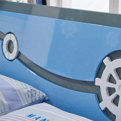 Set mobilier Rocky din MDF pentru camera copii 4 piese: pat 120/190cm cu 2 sertare depozitare, noptieră, dulap 3 usi, birou - cod 8119 [4]
