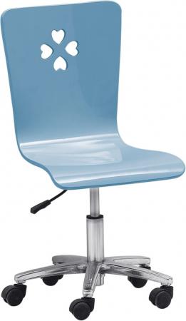Birou colt  cu biblioteca și scaun din MDF Numero cameră copii4