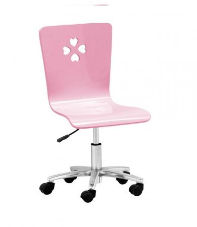 Set mobilier  Princess din MDF 5 piese: pat 120/200 cm cu 2 sertare depozitare, noptieră, dulap 2 usi, birou drept si scaun pentru cameră copii cod 8862D10