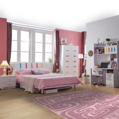 Set mobilier Piano din MDF pentru camera copii 4 piese: pat 120 x 190cm, noptiera, dulap 3 usi, birou -cod 88600