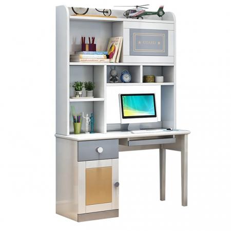 Set mobilier Guarddin MDF si lemn masiv pentru camera copii 4 piese: pat 120 x 190cm, noptiera, dulap 3 usi, birou -cod 8913 [13]
