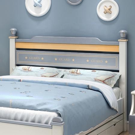 Set mobilier Guarddin MDF si lemn masiv pentru camera copii 4 piese: pat 120 x 190cm, noptiera, dulap 3 usi, birou -cod 8913 [7]